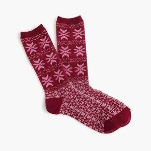 "J.Crew ""Fair Isle"" knit Trouser Socks"